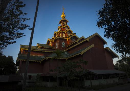 Monastery Tower, Sittwe, Myanmar