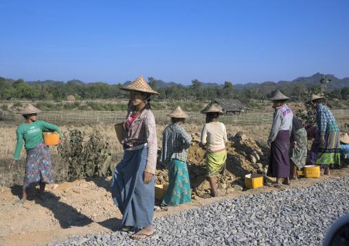 Workers Repairing Roads, Mrauk U, Myanmar