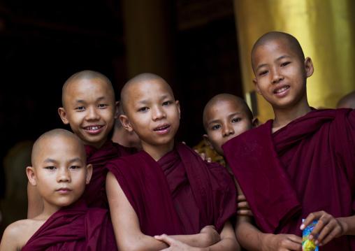 Group Of Novices, Yangon, Myanmar