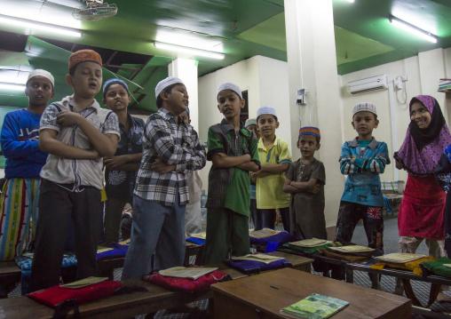Children In A Coranic School, Rangon, Myanmar