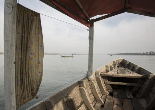 Boat On Kaladan River, Mrauk U, Myanmar
