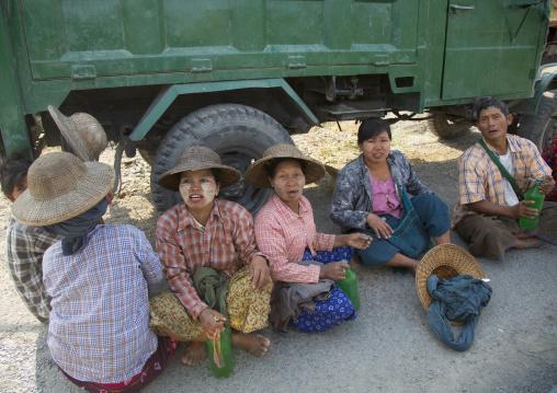 Road Construction Workers, Mindat, Myanmar