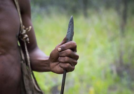 Bushman Hunter With A Spear, Tsumkwe, Namibia