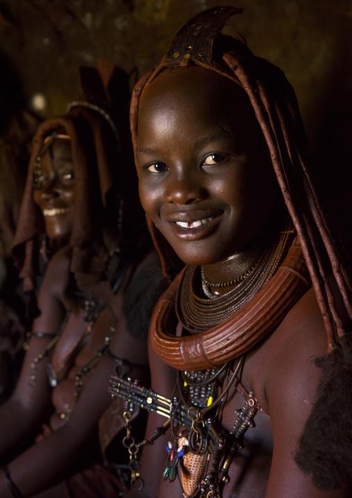 Himba Women Inside Their Hut, Epupa, Namibia