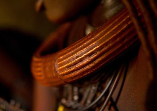 Himba Woman Copper Nacklace Epupa, Namibia