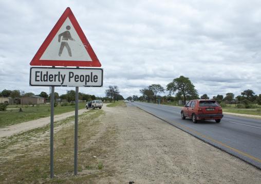Elderly Road Sign, Omhedi, Namibia