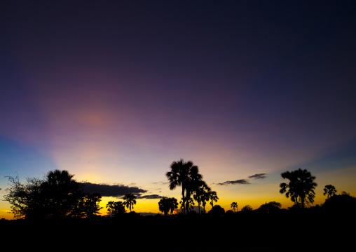 Sunset Over Ondangwa, Namibia