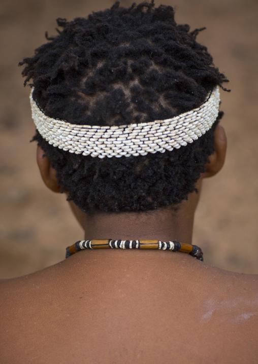 Bushman With Ostrich Headwear, Tsumkwe, Namibia