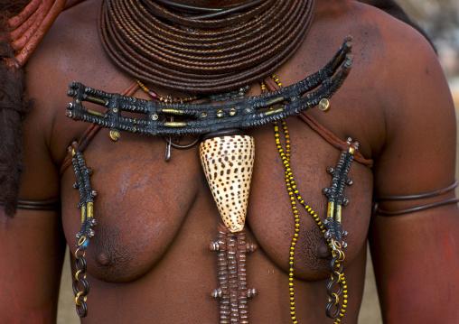 Himba Woman Ohumba Shell, Epupa, Namibia