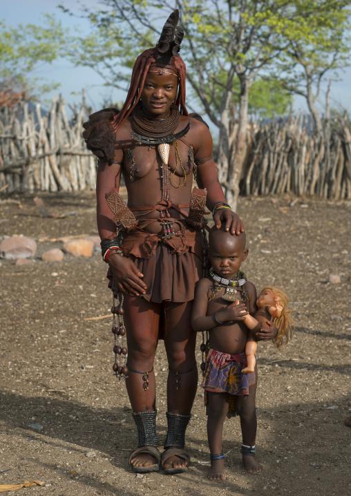 Himba Mother And Daughter, Epupa, Namibia