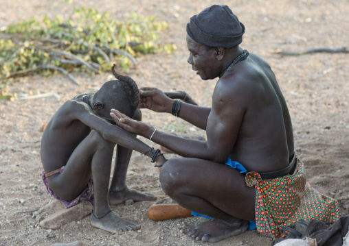 Witchdoctor Purifying The Himba People, Pupa, Namibia