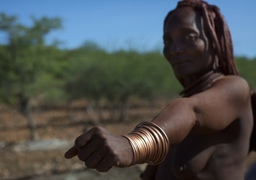 Himba Woman Copper Bracelets, Epupa, Namibia