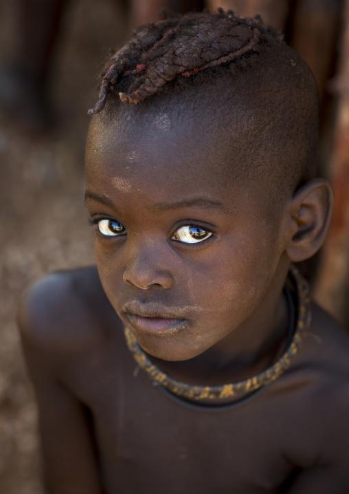 Himba Child Boy With Big Eyes, Epupa, Namibia