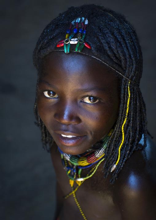 Mucawana Tribe Girl, Ruacana, Namibia