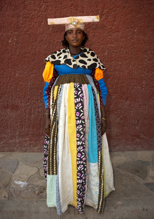 Herero Woman Called Miss Betomundo, Opuwo, Namibia