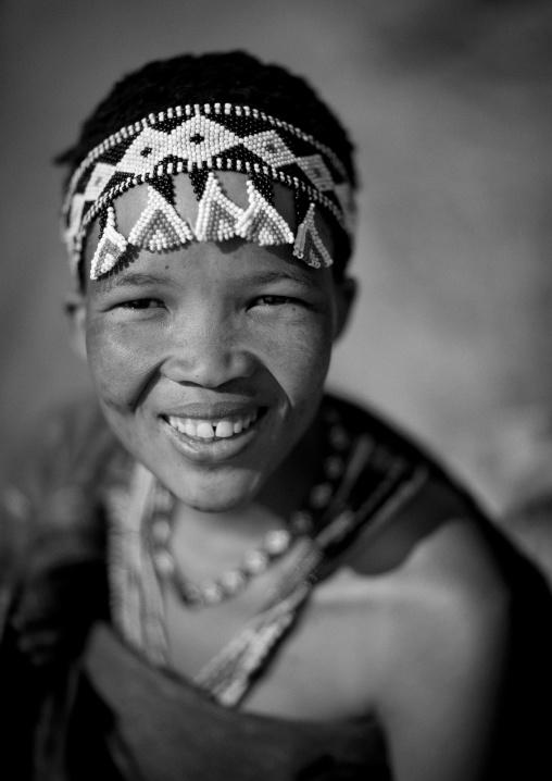 San Woman Smiling, Namibia