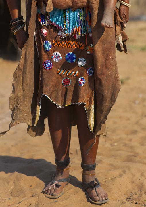 San Skirt With Owl Eyes Motifs, Tsumkwe, Namibia