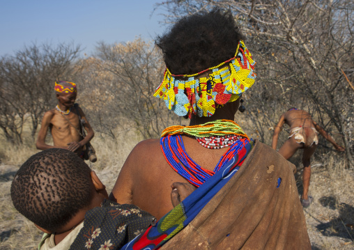 Bushman Woman With Child, Tsumkwe, Namibia