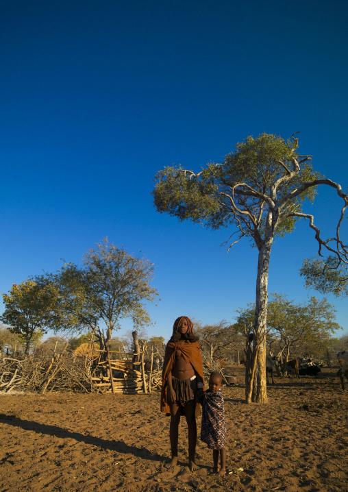 Himba Children, Karihona Village, Ruacana Area, Namibia