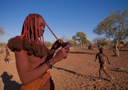 Young Himba Woman Called Kasweet, Karihona Village, Ruacana Area, Namibia