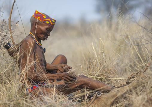 Old Bushman Hunter, Tsumkwe, Namibia