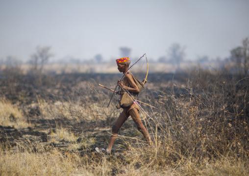 Bushman Hunter With His Bow, Tsumkwe, Namibia