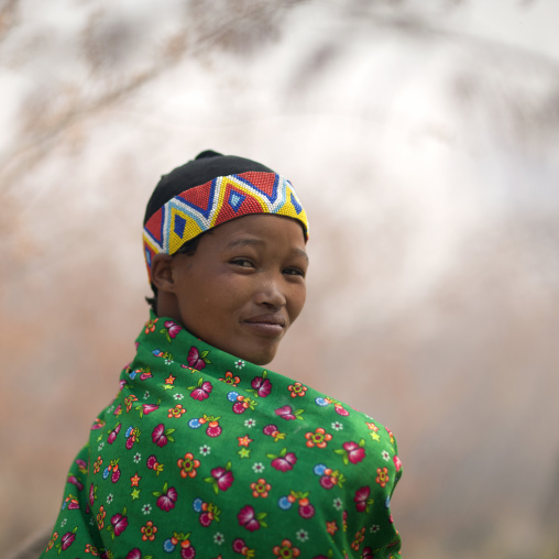 Miss Huce Kgao, A Woman From The San Tribe, Namibia