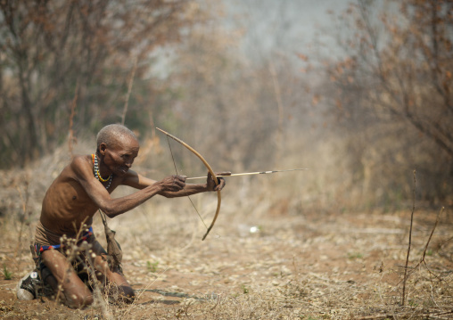 Old San Man Bending His Bow, Namibia