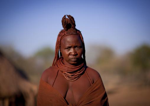 Himba Woman, Karihona Village, Ruacana Area, Namibia