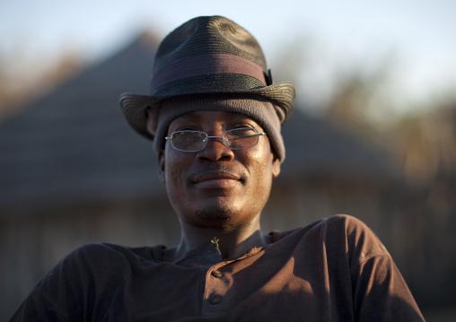 Ovambo Man Wearing A Hat, Ruacana Area, Namibia