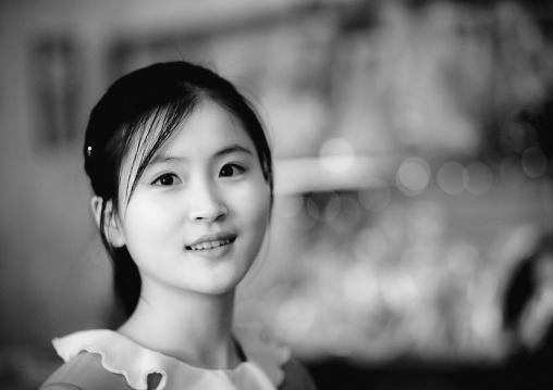 North Korean young woman, Pyongan Province, Pyongyang, North Korea