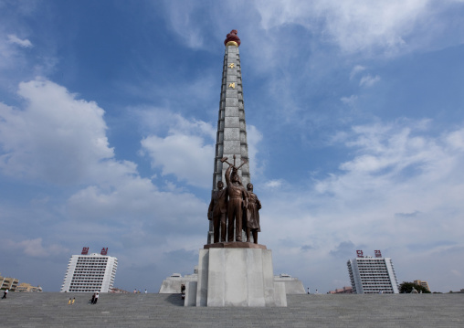 The Juche tower built to commemorate Kim il-sung's 70th birthday, Pyongan Province, Pyongyang, North Korea