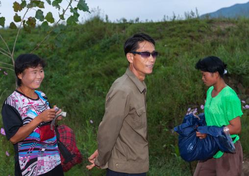 North Korean people in the countryside, North Hwanghae Province, Kaesong, North Korea