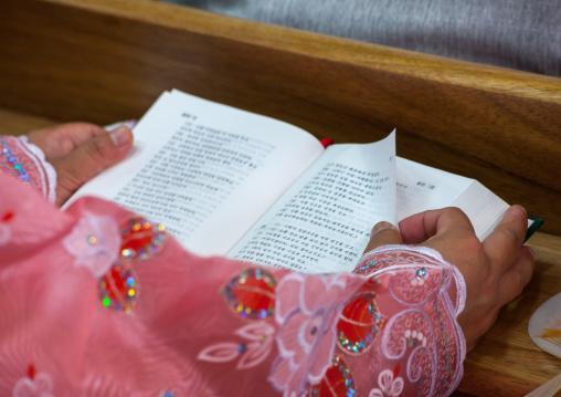 Sunday mass in protestant Bongsu church, Pyongan Province, Pyongyang, North Korea
