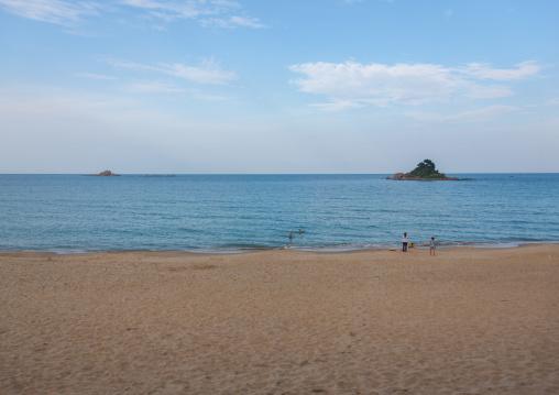 North Korean people having a swim in the east sea, North Hamgyong Province, Chilbo Sea, North Korea