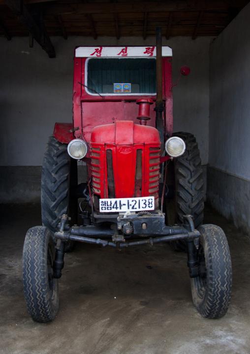 Old North Korean tractor, South Hamgyong Province, Hamhung, North Korea