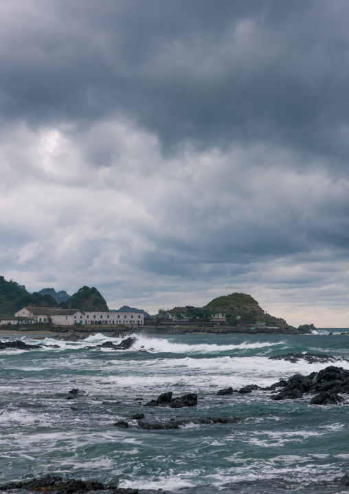Storm on the coastline, North Hamgyong Province, Jung Pyong Ri, North Korea