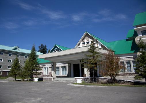Baegaebong hotel at the feet of mount Paektu, Ryanggang Province, Samjiyon, North Korea