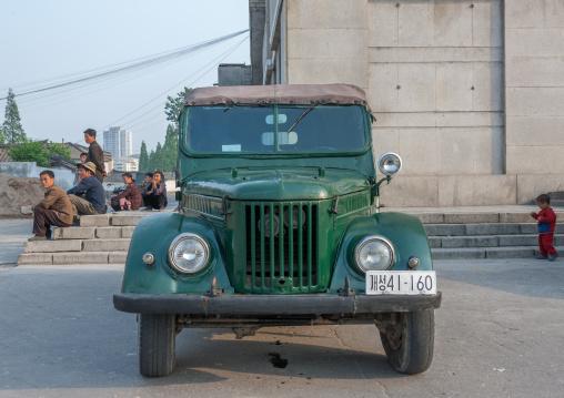 Old North Korean army jeep, North Hwanghae Province, Kaesong, North Korea