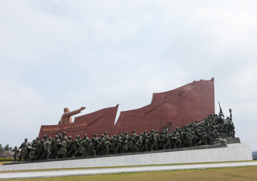 Kim Il-sung statue in Mansudae monument, Pyongan Province, Pyongyang, North Korea