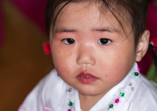 North Korean girl in an orphanage, South Pyongan Province, Nampo, North Korea