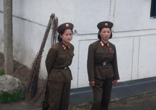 North Korean soldiers, Kangwon Province, Chonsam Cooperative Farm, North Korea