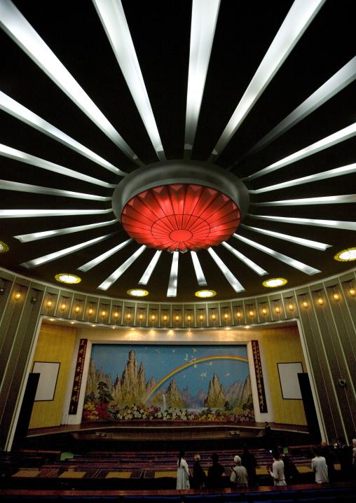 Theatre ceiling in Songdowon international children's camp, Kangwon Province, Wonsan, North Korea
