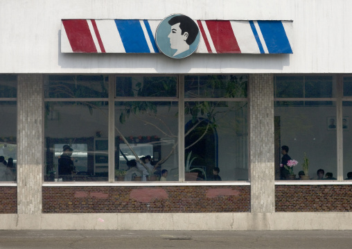 Hair salon in the city center, Pyongan Province, Pyongyang, North Korea