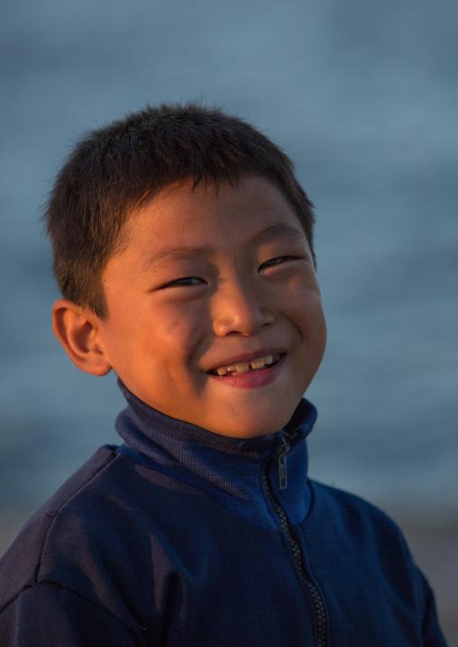 Portrait of a smiling North Korean boy, Kangwon Province, Wonsan, North Korea