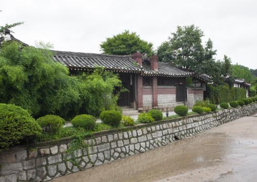Old traditional Korean houses in kaesong folk hotel, North Hwanghae Province, Kaesong, North Korea