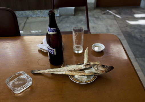 Fish of the day in a North Korean restaurant, Kangwon Province, Wonsan, North Korea