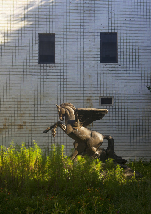 Chollima horse statue in Songdowon international children's camp, Kangwon Province, Wonsan, North Korea