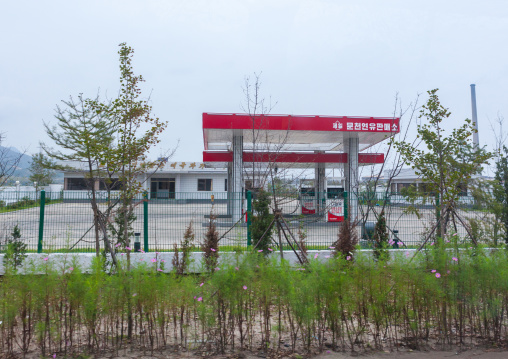 Empty munjeon gas station, South Hamgyong Province, Hamhung, North Korea
