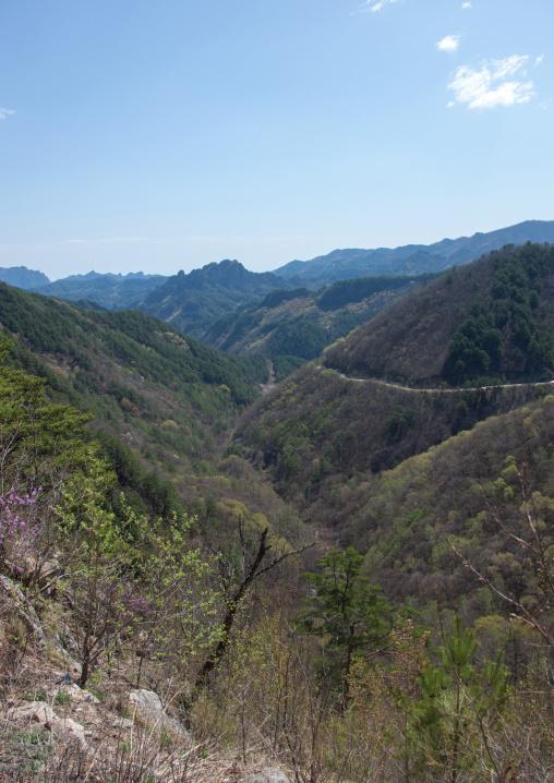 Mountainous landscape, North Hamgyong Province, Jung Pyong Ri, North Korea